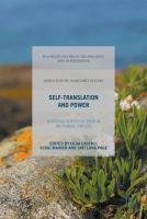 Self-translation and power : negotiating identities in European multilingual contexts cover image