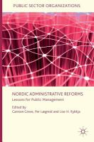 Nordic administrative reforms : lessons for public management cover image
