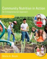 Community nutrition in action : an entrepreneurial approach /
