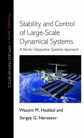 Stability and control of large-scale dynamical systems [electronic resource] : a vector dissipative systems approach