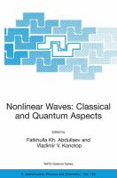 Nonlinear waves [electronic resource] : classical and quantum aspects