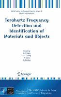 Terahertz frequency detection and identification of materials and objects [electronic resource]