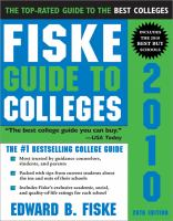 Fiske Guide to Colleges 2010