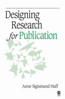 Designing Research for Publication catalog link