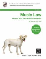 Music law : how to run your band's business