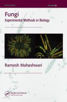 Fungi [electronic resource] : experimental methods in biology