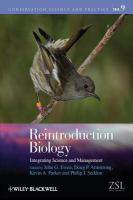 Reintroduction biology [electronic resource] : integrating science and management