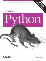 Learning Python [electronic resource]