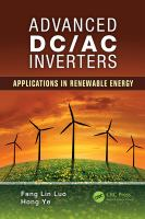 Advanced DC/AC inverters [electronic resource] : applications in renewable energy