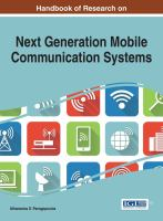 Handbook of research on next generation mobile communication systems