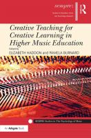 Creative teaching for creative learning in higher music education cover