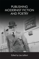 Publishing modernist fiction and poetry /