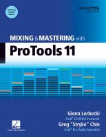 Mixing and mastering with Pro Tools 11