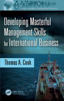 Developing masterful management skills for international business /