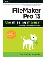 FileMaker Pro 13 : the missing manual
