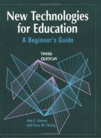 New technologies for education [electronic resource] : a beginner's guide