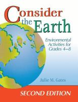 Consider the earth [electronic resource] : environmental activities for grades 4-8