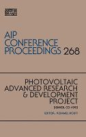 Photovoltaic Advanced Research & Development Project [electronic resource] : Denver, CO, 1992