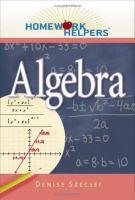 Homework helpers. Algebra