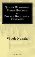 Quality management system handbook for product development companies [electronic resource]