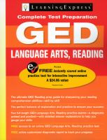 GED Language Arts, Reading