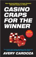 Casino craps for the winner : a step-by-step manual for serious craps players