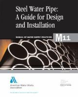 Steel pipe [electronic resource] : a guide for design and installation.