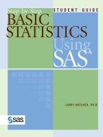 Step-by-step basic statistics using SAS [electronic resource] : student guide
