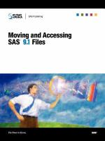 Moving and accessing SAS 9.1 files [electronic resource].