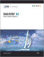 SAS/STAT 9.1 [electronic resource] : user's guide.