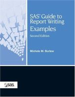SAS guide to report writing [electronic resource] : examples