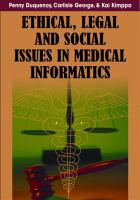 Ethical Legal and Social Issues in Medical Informatics catalog
