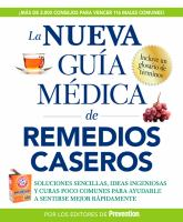 La nueva guía médica de remedios caseros