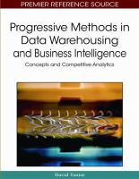 Progressive Methods in Data Warehousing and Business Intelligence catalog link