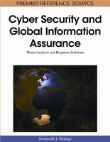 Cyber Security and Global Information Assurance catalog link
