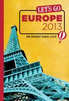 Let's Go Europe 2013