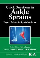 Quick questions in ankle sprains : expert advice in sports medicine cover image