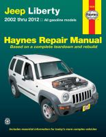 Jeep Liberty 2002 Thru 2012