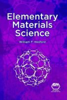 Elementary materials science [electronic resource]