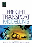 Freight transport modelling [electronic resource]