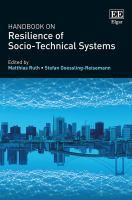 Handbook on resilience of socio-technical systems /