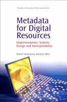 Metadata for Digital Resources catalog