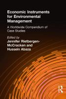 Economic instruments for environmental management [electronic resource] : a worldwide compendium of case studies