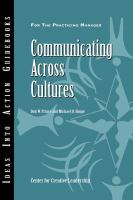 Communicating across cultures [electronic resource]