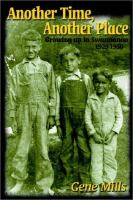 Another time, another place [electronic resource] : growing up in Swannanoa, 1929-1950