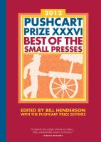 Pushcart Prize XXXVI, 2012