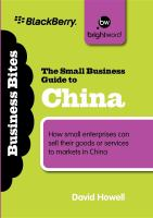 The Small Business Guide to China