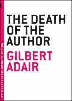 The Death of the Author