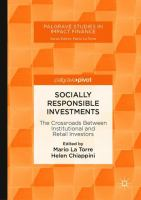 Socially responsible investments : the crossroads between institutional and retail investors /