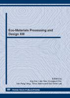 Eco-materials processing and design XIII [electronic resource] : selected, peer reviewed papers from the 13th International Symposium on Eco-Materials Processing and Design (ISEPD-13),             January 7-10, 2012, Guilin, China